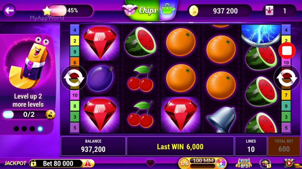 Slot machines level